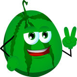 Watermelon gesturing the peace sign Stock Photography