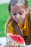 Watermelon girl Royalty Free Stock Photos