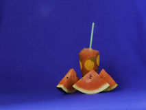 Watermelon. Glass used to make beautiful backdrop Stock Photography