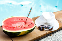 Watermelon and glasses Royalty Free Stock Photo