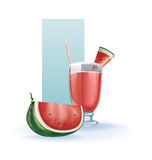 Watermelon in goblet of juice, cocktail, smoothie Stock Image