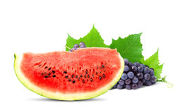 Watermelon and grape. Colorful healthy fresh fruit. Shot in a studio Stock Photography