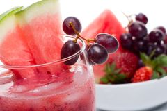 Watermelon and grapes Royalty Free Stock Image