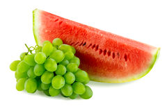 Watermelon and grapes Stock Photo