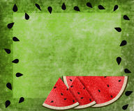 Watermelon Green Texture Background - seeds border Stock Image