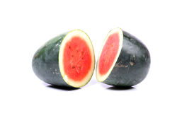Watermelon halves Royalty Free Stock Images