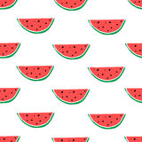 Watermelon hand drawn seamless pattern. Stock Images