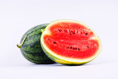 Watermelon is a healthy sweet fruiton white background fruit food isolated Royalty Free Stock Image