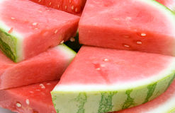 Watermelon heap. Background of a heap of watermelon slices Royalty Free Stock Photo