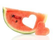 Watermelon heart Stock Image