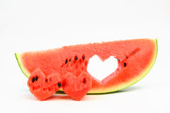 Watermelon with heart Royalty Free Stock Photography