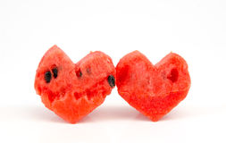 Watermelon heart Royalty Free Stock Images
