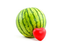 Watermelon and Heart Stock Image