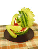 Watermelon horse Stock Images