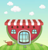Watermelon house Stock Photography