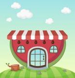 Watermelon house Stock Photography