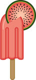 Watermelon Ice Cream Stick Royaltyfri Fotografi