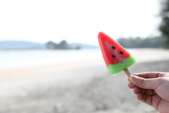 Watermelon ice creams Royalty Free Stock Photos