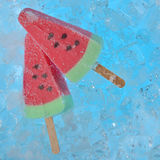 Watermelon ice creams Stock Images