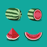 Watermelon  icon collection. Stock Images