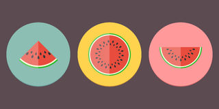 Watermelon Icon Collection Stock Photo