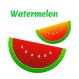 Watermelon icon. Cute red watermelon slide. Watermelon icon. Cute red watermelon slide Stock Photography