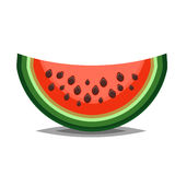 Watermelon icon in flat and siple style for summer illustration Stock Images