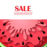 Watermelon icon in a flat style. stock illustration