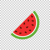 Watermelon icon. Juicy ripe fruit on isolated background Royalty Free Stock Images