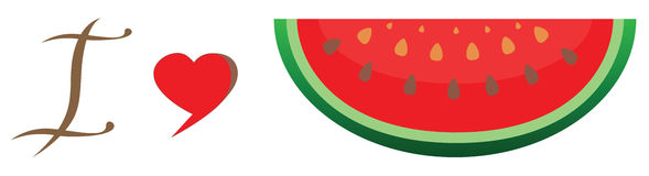 Watermelon Icon in trendy flat style isolated on white background. Summer symbol for your web site design Stock Image