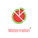 Watermelon icon on white Stock Images