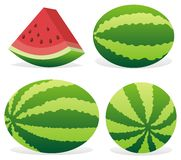 Watermelon icons Stock Photography