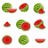 Watermelon Icons Stock Images