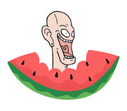 Watermelon illustration Stock Image