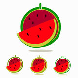 Watermelon. Illustration of a fresh watermelon for logo Stock Image