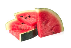 Watermelon islice solated on white. Background Royalty Free Stock Photos