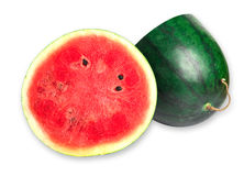 Watermelon islice solated on white. Background Stock Photos