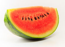 Watermelon isolated. The watermelon on white background Royalty Free Stock Image