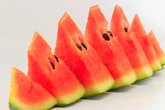 Watermelon isolated. Watermelon pieces with isolated background Royalty Free Stock Photos