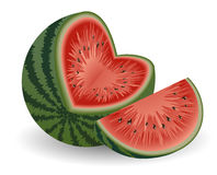 Watermelon_on_isolated_background Fotografía de archivo libre de regalías