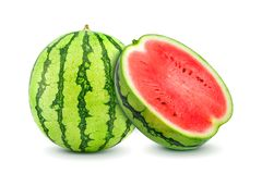 Watermelon isolated on white background royalty free stock photo
