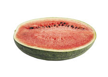 Watermelon isolated on white. Cut half watermelon isolated on white background Stock Photography