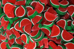 Watermelon jellies. Close-up of watermelon jellies Stock Photography