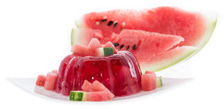 Watermelon Jello on white Royalty Free Stock Photography