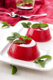 Watermelon jelly Stock Images