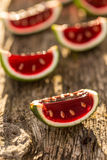 Watermelon jelly royalty free stock image