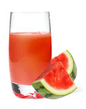 Watermelon juice. On a white bg Royalty Free Stock Photography