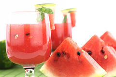 Watermelon juice. Decorated with mint Royalty Free Stock Images