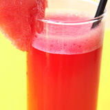 Watermelon juice. Closeup of a glass with refreshing watermelon juice Royalty Free Stock Photo