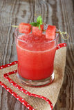 Watermelon juice. Glass with watermelon juice and mint Stock Photography